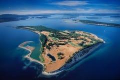 詹姆斯海岛, Salish海天线, BC,加拿大 免版税库存图片