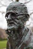 詹姆斯・乔伊斯雕塑,圣斯蒂芬的绿色,都伯林,爱尔兰。 免版税库存图片