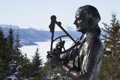 詹姆斯・库克上尉全国古迹科纳布鲁克纽芬兰 库存照片