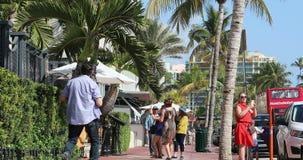 詹尼・范思哲议院在迈阿密海滩 股票录像