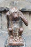 警卫室猴子雕象在阜,比利时 库存照片