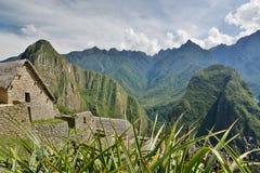 警卫室 Machu Picchu 秘鲁 免版税库存照片