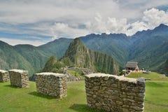 警卫室 Machu Picchu 秘鲁 免版税库存图片