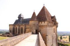 警卫室chateau de biron,多尔多涅省法国 免版税库存照片