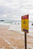 警告信号标志 图库摄影
