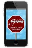警告分散的驾驶 库存图片