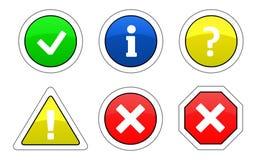警告图标 免版税库存照片