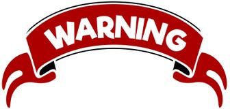 警告在红色带 免版税库存图片