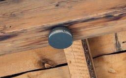 警告火的居民的小圆的电池操作的设备 免版税库存照片