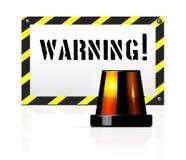 警告背景 免版税库存图片