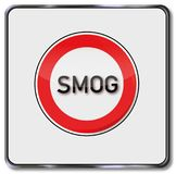 警告臭氧和烟雾区域 免版税库存图片
