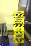警告办公室标志 免版税库存照片