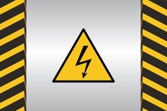 警告道路危险标志 库存例证
