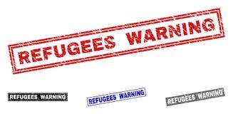 警告难看的东西的难民织地不很细长方形水印 库存照片