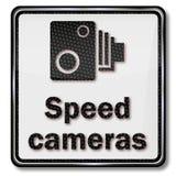 警告雷达监视和速度照相机 免版税库存图片