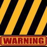 警告,黄色黑标志说关于危险 免版税库存照片