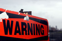 警告 库存图片
