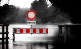 洪水警告 库存照片
