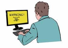 警告 免版税图库摄影