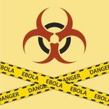 警告ebola生物危害品标志 免版税图库摄影