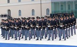 警察军校学生的部署 库存图片