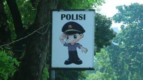 警察动画片 免版税库存照片
