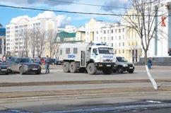 警察卡车(囚犯运输车) 库存照片