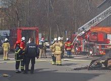 警察和消防员 库存图片
