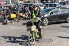 警察在北京 库存照片