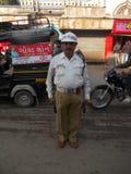 警察在朱纳格特/印度 免版税库存图片