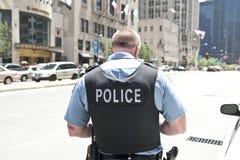 警察在芝加哥 库存图片