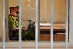 警察在越南 库存照片