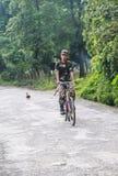 警察在chitwan的森林公园,尼泊尔 图库摄影