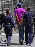 警察在Ny拘捕 免版税库存照片