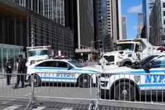 警察封锁, NY 3月我们的生活, NYC,美国 库存照片