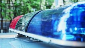 警察应急灯 股票视频