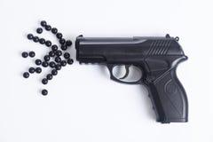 警察开枪 库存照片