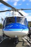 警察抢救直升机 免版税图库摄影