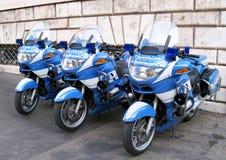 警察摩托车在罗马 免版税库存照片