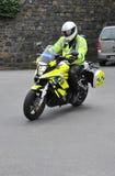 警察摩托车根西岛 库存图片