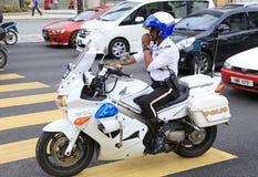 警察摩托车马来西亚 免版税库存照片