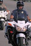 警察摩托车 库存图片