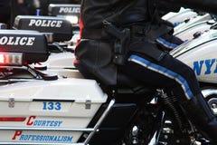 警察摩托车 免版税库存照片