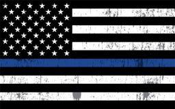 警察支持旗子例证 库存照片