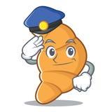 警察新月形面包字符动画片样式 免版税库存图片