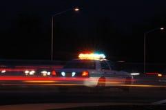 警察晚上 免版税图库摄影