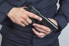 警察枪 免版税图库摄影