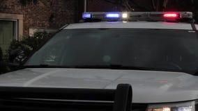 警察汽车和闪光灯hd 股票视频