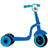 警察滑行车玩具 免版税库存照片