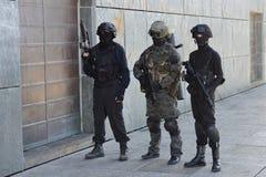 警察特种部队训练  库存图片